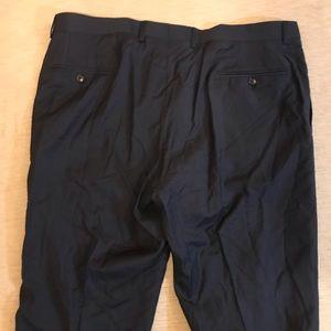 """Ted Baker NavyvWool Trousers Unhemmed 39"""" Waist"""